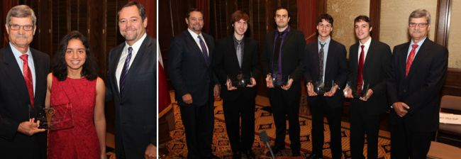 2015 award winners for the Regents' Outstanding Student Awards in Arts and Humanities
