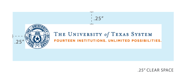 UT System Branding Guidelines Spacing