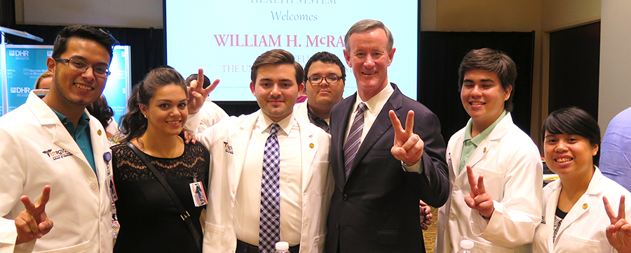 McRaven with UTRGV med students