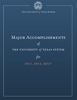 Major Accomplishments (2011-2014) | University of Texas System