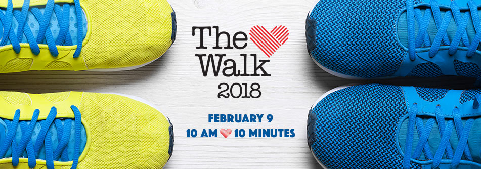 Heart Walk on February 9, 2018 at 10 am.
