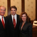 Regent Woody L. Hunt, Governor Rick Perry, and Mrs. Gayle Hunt