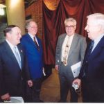 President Willerson, Chairman Miller, Dr. Ken Shine, and an unidentified person