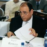 Regent Romero at a Board Meeting on September 16, 1999