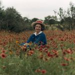 Portrait of Lady Bird Johnson in the Texas Hill Country