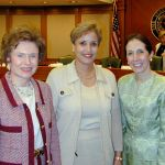 Regent Clements after confirmation hearing with Regent Craven and Regent Krier