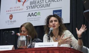 Virginia Kaklamani, M.D., represents UT Health San Antonio as one of three co-leaders of the San Antonio Breast Cancer Symposium (SABCS), one of the largest breast cancer meetings in the world.