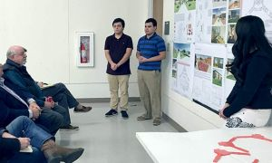 architecture students present eight different design scenarios to health care professional architects