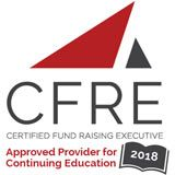 CFRE 2018 logo.  Approved for Continuing Education