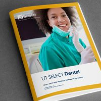 Cover of the UT Select Dental plan benefits booklet.